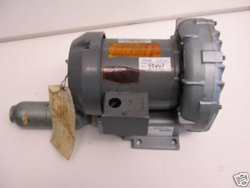 REGENAIR ROTORY VANE VACUUM PUMP R2305B & EMERSON MOTOR P55CFL 1037