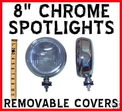 8 8 Inch Slimline Chrome Spotlights jeep wrangler all