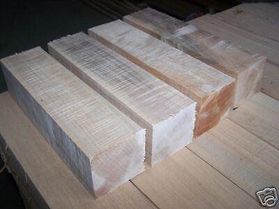 Four  4  Maple Turning Blocks Lumber Lathe Wood Blanks Blocks 3 X 3 X 12