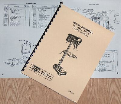 "ROCKWELL-DELTA 20/"" Drill Press Operators Parts Manual 0641"