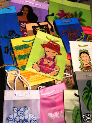 Hawaiian Gift Wrap Bags Luau Party Supplies New 20 Lot all - Luau Gift Bags