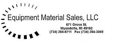 equipment material sales