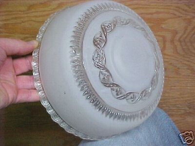 Vintage Frosted Glass GORGEOUS lamp Shade Fixture LOOK