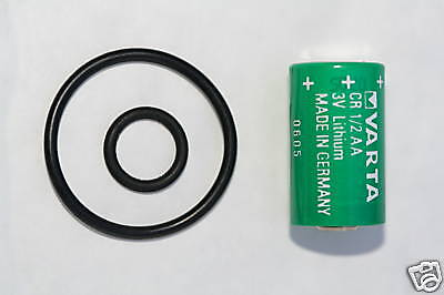 Battery & ORing for Suunto  Transmitter CR 1/2AA D9