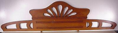 Jugenstil  Arts & Crafts Hand Carved Wood Crown Topper Mantel Molding Antiques 3