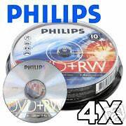 25-pk Philips 4x DVD+RW Rewritable 4.7GB Blank Recordable DVD+R DVD Media Disk