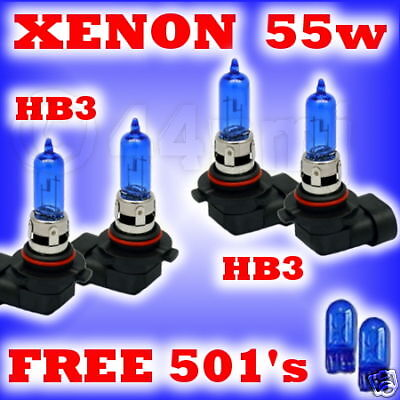 55w XENON HEADLIGHT BULB SET ALFA ROMEO 166 all HB3 HB3
