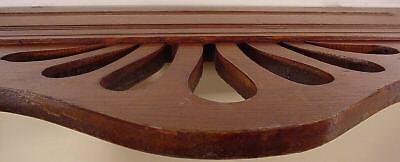 Jugenstil  Arts & Crafts Hand Carved Wood Crown Topper Mantel Molding Antiques 11