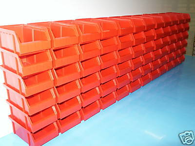 Riesen Rest-Posten 72 Stueck  Stapel Lagerboxen Farbe Rot Made in Germany !!!